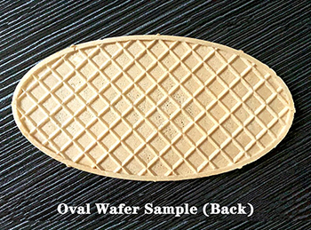 Oval wafer biscuit